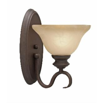 Golden Lighting 6005-1W RBZ 1 Light Wall Sconce