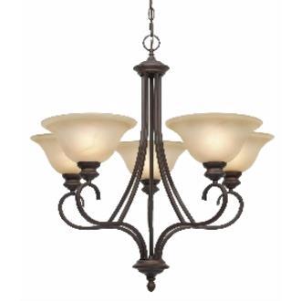 Golden Lighting 6005-5 RBZ 5 Light Chandelier