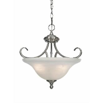 Golden Lighting 6005-SF PW Convertible Semi-Flush
