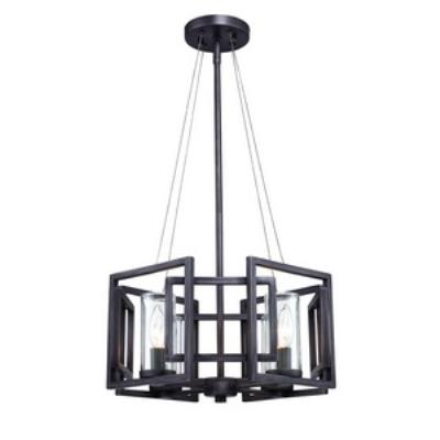Golden Lighting 6068-SF GMT Marco - Four Light Convertible Semi-Flush Mount