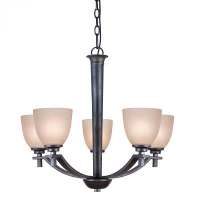 Golden Lighting 6262-5 DNI Hampden - Five Light Chandelier