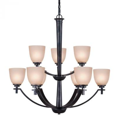 Golden Lighting 6262-9 DNI Hampden - Nine Light Chandelier