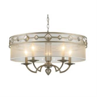 Golden Lighting 6390-5 WG Coronada - Five Light Chandelier