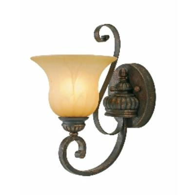 Golden Lighting 7116-1W LC 1 Light Wall Sconce