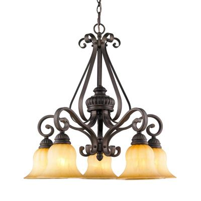 Golden Lighting 7116-D5 LC 5 Light Nook Chandelier