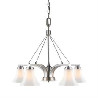 Golden Lighting 7158-D5 PW-OP Accurian - Five Light Nook Chandelier