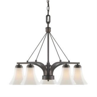 Golden Lighting 7158-D5 RBZ-OP Accurian - Five Light Nook Chandelier