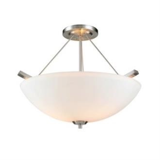 Golden Lighting 7158-SF PW-OP Accurian - Three Light Convertible Semi-Flush Mount