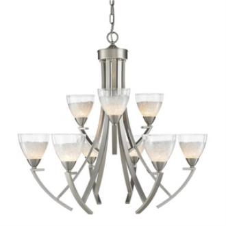 Golden Lighting 7509-9 PW Asteria - Nine Light Chandelier
