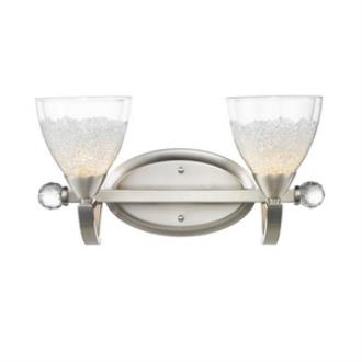 Golden Lighting 7509-BA2 PW Asteria - Two Light Bath Vanity