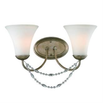 Golden Lighting 7644-BA2 GA Mirabella - Two Light Bath Vanity