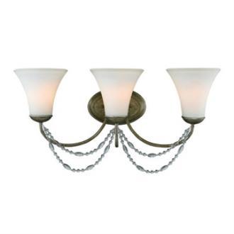 Golden Lighting 7644-BA3 GA Mirabella - Three Light Bath Vanity