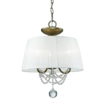 Golden Lighting 7644-SF GA Mirabella - Three Light Convertible Semi-Flush Mount
