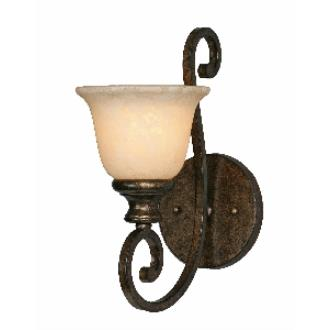 Golden Lighting 8063-1W BUS 1 Light Wall Sconce