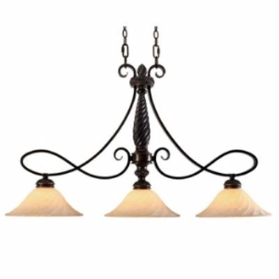 Golden Lighting 8106-10 Torbellino - Three Light Island Fixture