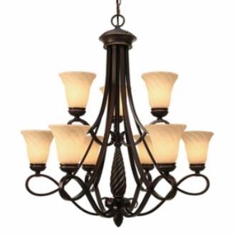 Golden Lighting 8106-9 Torbellino - Nine Light Chandelier