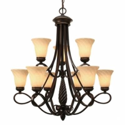 Golden Lighting 8106-9 Torbellino - Nine Light Chandelier