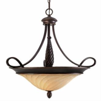 Golden Lighting 8106-BP3 Torbellino - Three Light Bowl Pendant