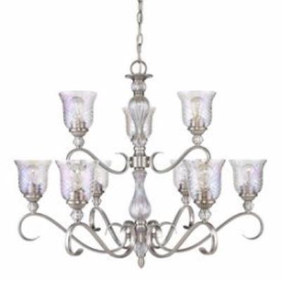 Golden Lighting 8118-9 PW Alston Place - Nine Light 2-Tier Chandelier