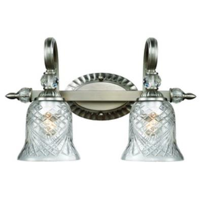 Golden Lighting 8118-BA2 PW Alston Place - Two Light Bath Vanity