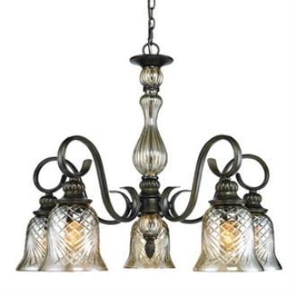 Golden Lighting 8118-D5 BUS Alston Place - Five Light Nook Chandelier