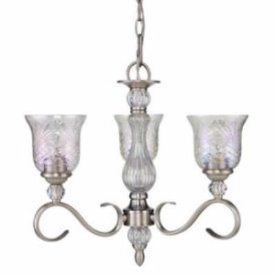 Golden Lighting 8118-M3 PW Alston Place - Three Light Mini Chandelier