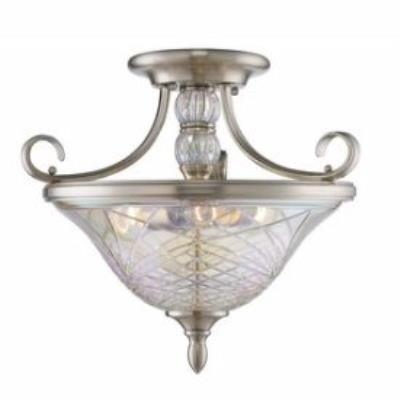 Golden Lighting 8118-SF PW Alston Place - Three Light Convertible Semi-Flush Mount