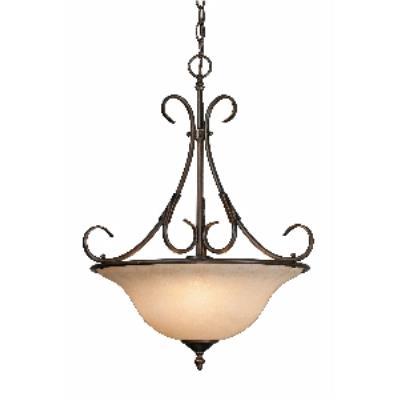 Golden Lighting 8606-3P RBZ Pendant Bowl