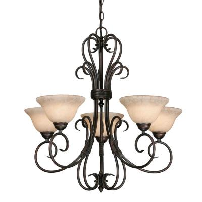 Golden Lighting 8606-5 RBZ 5 Light Chandelier