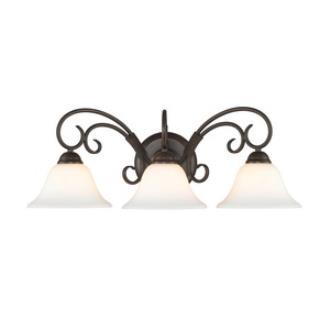 Golden Lighting 8606-BA3 RBZ-OP Homestead - Three Light Bath Vanity