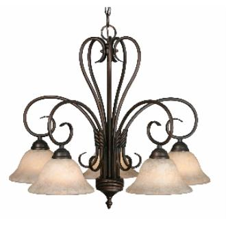 Golden Lighting 8606-D5 RBZ 5 Light Nook Chandelier