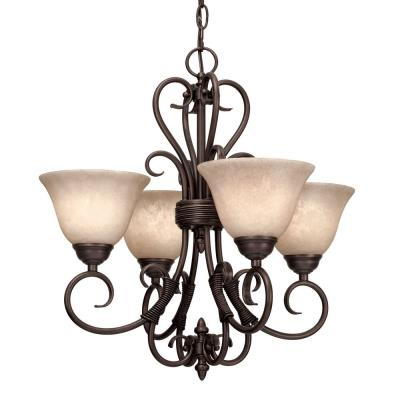 Golden Lighting 8606-GM4 RBZ Mini Chandelier
