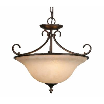 Golden Lighting 8606-SF RBZ Convertible Semi-Flush