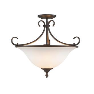 Golden Lighting 8606-SF RBZ-OP Homestead - Three Light Convertible Semi-Flush Mount