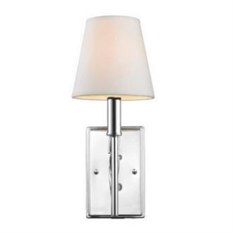 Golden Lighting 9106-1W CH-OPL Taylor - One Light Wall Sconce