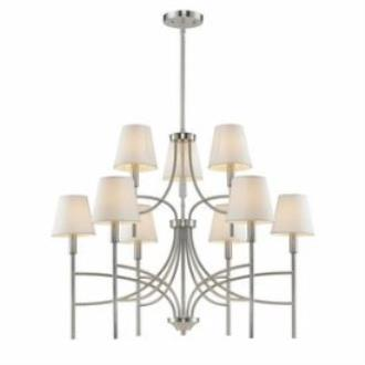 Golden Lighting 9106-9 PW-OPL Taylor - Nine Light Chandelier