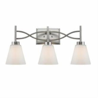 Golden Lighting 9106-BA3 PW Taylor - Three Light Bath Vanity