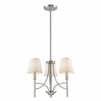 Golden Lighting 9106-M3 PW-OPL Taylor - Three Light Mini Chandelier