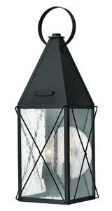 Hinkley Lighting-1844BK-York - Two Light Medium Outdoor Wall Mount  Black Finish with Clear Seedy Glass