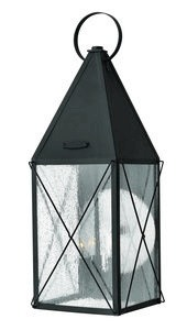Hinkley Lighting-1845BK-York - Three Light Large Outdoor Wall Mount  Black Finish with Clear Seedy Glass