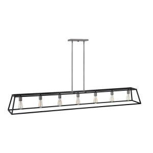 Fulton - Seven Light Stem Hung Linear Chandelier