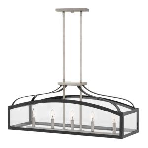 Clarendon - Five Light Linear Chandelier