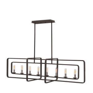 Quentin - Eight Light Stem Hung Linear Chandelier