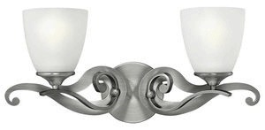 Hinkley Lighting-56322AN-Reese - Two Light Bath Bar  Antique Nickel Finish with Etched Opal Glass