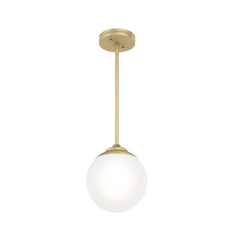 Hunter Fans-19018-Hepburn - One Light Sputnik Pendant  Painted Modern Brass Finish with White Glass