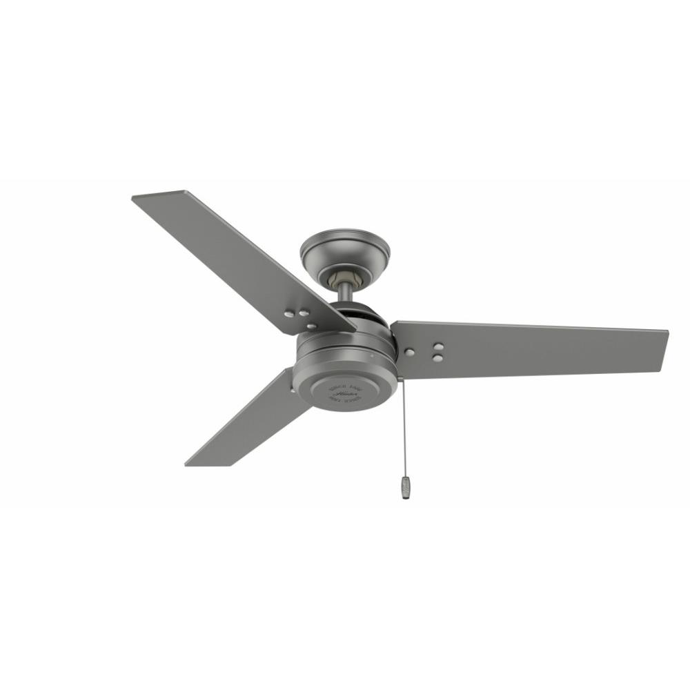 Hunter Fans 502 Cassius Outdoor Ceiling Fan In Industrial Style 44 Inches Wide By 11 3 Inches High