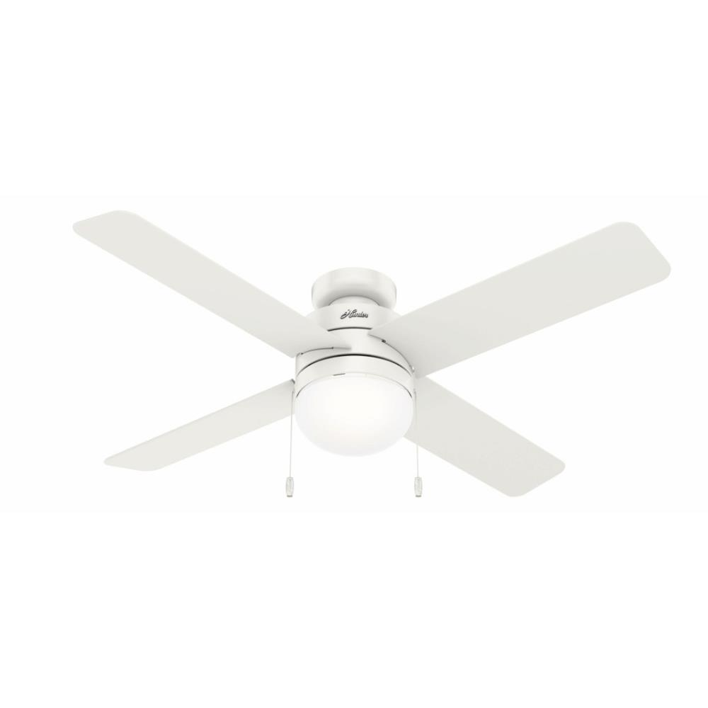 Hunter Fans 5036 Timpani Low Profile Ceiling Fan With Light Kit And Pull Chain In Modern Style 52 Inches Wide By 14 05 Inches High