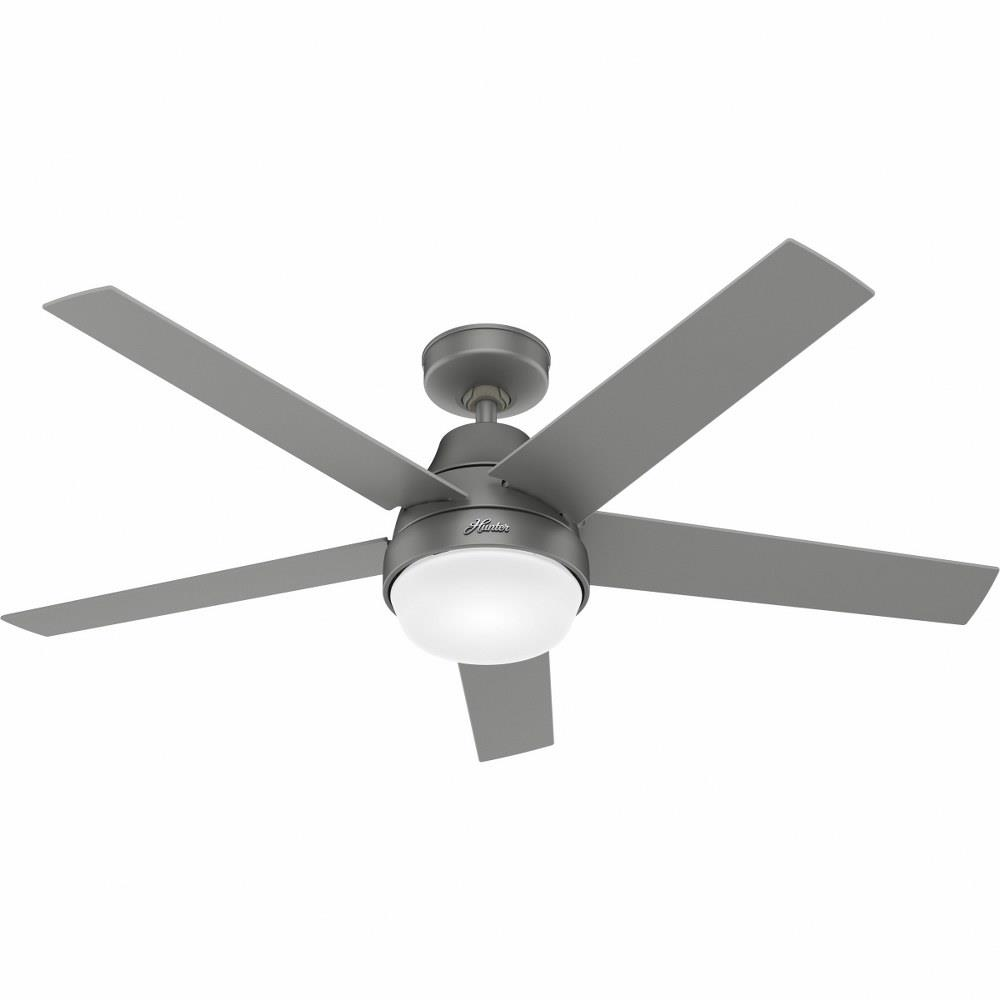 Hunter Fans 51314 Wifi Aerodyne Ceiling Fan With Led Light Kit And Handheld Remote In Modern Style 52 Inches Wide By 15 92 Inches High