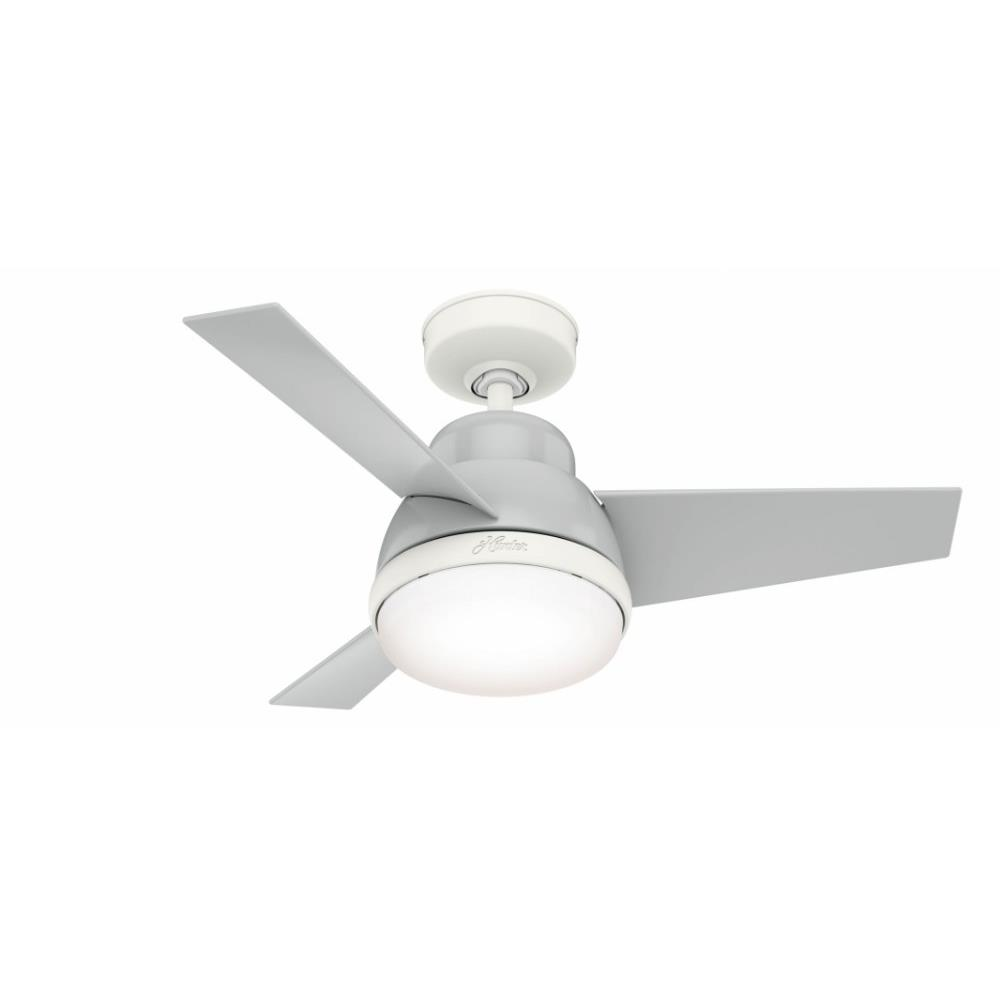 Hunter Fans 51 V36 Valda Ceiling Fan With Light Kit In Modern Style 36 Inches Wide By 15 18 Inches High