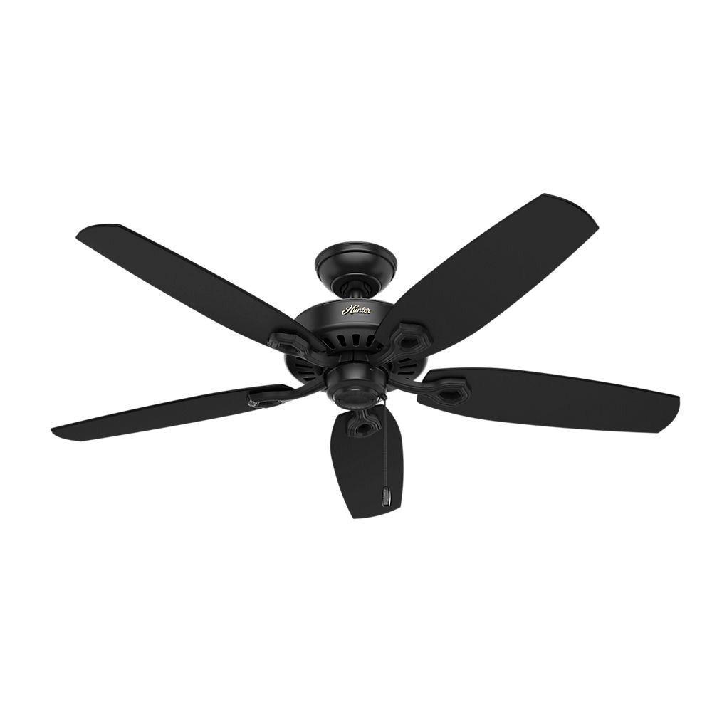 Hunter Fans-53243-Builder Elite - 52 Inch Ceiling Fan  Matte Black Finish